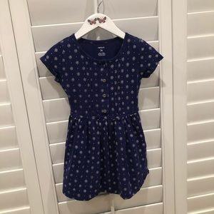 Adorable Carter's Girl's Purple Floral Dress 3T